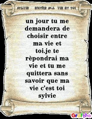 Poème Sylvie